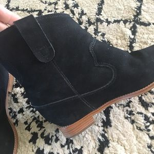 a853d9cf15b Anthropologie Shoes - Anthropologie Black Rowen Hidden Wedge Booties 7.5